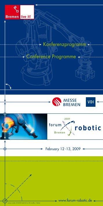 Conference Programme Konferenzprogramm - Forum Robotic
