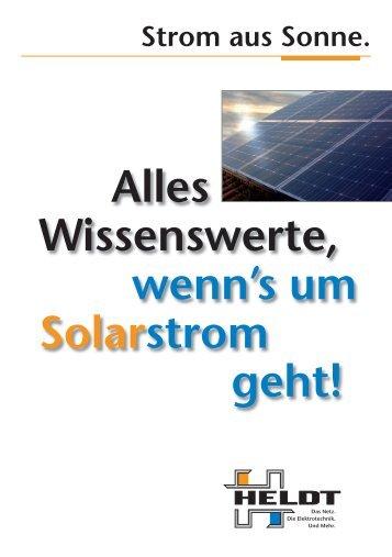 Der Weg zum Solarstrom. - Heldt
