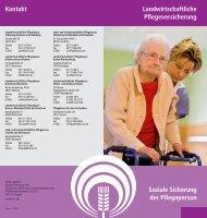 Soziale Sicherung der Pflegeperson - LSV