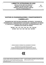 libretto istruzioni ed uso sistemi di rigenerazione e mantenimento ...