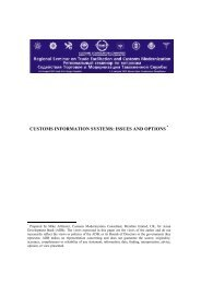 Customs Information Systems - CAREC
