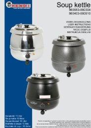 Gebruiksaanwijzing Bain Marie - HOCATEC.24 GmbH