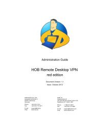 Download HOB RD VPN red edition Administration Guide