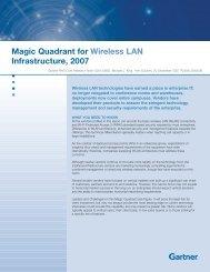 Magic Quadrant for Wireless LAN Infrastructure, 2007