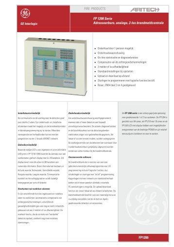 FP 1200 Serie Adresseerbare, analoge, 2-lus brandmeldcentrale ...