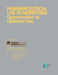 Pharmaceutical Use in Manitoba: Opportunities to Optimize