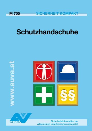 Merkblatt Schutzhandschuhe M 705