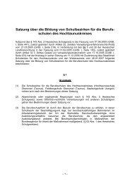 Satzung über die Bildung von Schulbezirken für ... - Hochtaunuskreis