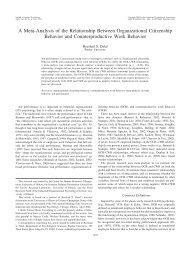 A Meta-Analysis of the Relationship Between Organizational ...