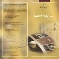 Gambling ... a problem? - Casino St.Moritz