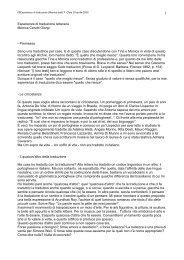 Esperienze di traduzione letterarie Monica Cerutti Giorgi - Premessa ...