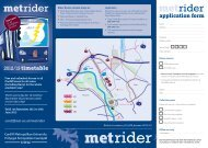 Met Rider Timetable and Application Form