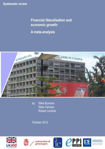 Financial liberalisation and economic growth: a meta-analysis ... - DfID