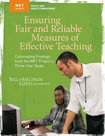 Ensuring Fair and Reliable Measures of Effective ... - MET Project