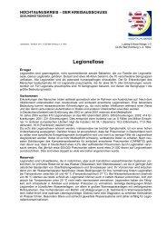 Legionellose - Hochtaunuskreis