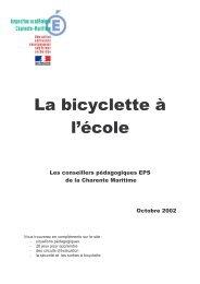 La bicyclette à l'école - Espace pédagogique