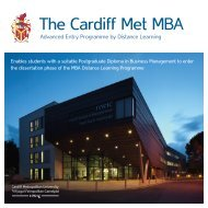 The Cardiff Met MBA - Cardiff Metropolitan University