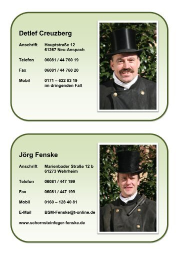 Bezirksschornsteinfeger der Kreisgruppe ... - Hochtaunuskreis