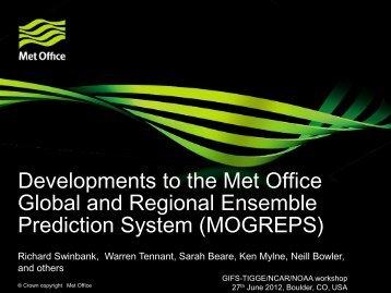 Developments to the Met Office Global and Regional ... - UCAR
