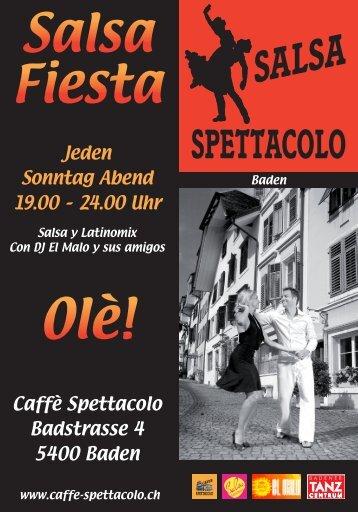 Angebotsflyer - Caffè Spettacolo