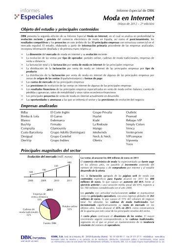 Informe Especial De DBK Moda En Internet