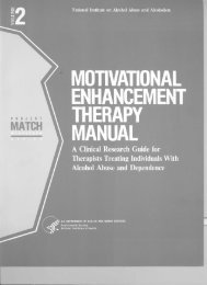 Motivational Enhancement Therapy Manual - Center on Alcoholism ...