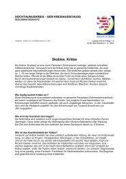 Skabies/ Krätze - Hochtaunuskreis
