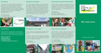 aktueller Flyer der Projektgruppen - Hockenheim
