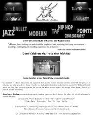 DanceWorks Studios 2011-2012 Brochure
