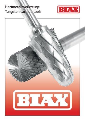 Frässtifte aus Hartmetall - BIAX Hartmetalle