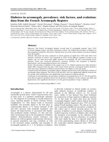 data from the French Acromegaly Registry - European Journal of ...
