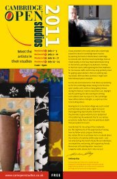 Cambridge Open Studios 2011 Visitor Guide - Fine Art Escape