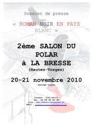 roman noir en pays blanc - Office du Tourisme de La Bresse