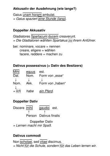 Akkusativ der Ausdehnung - Gymnasium Francisceum Zerbst