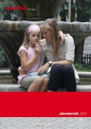 Jahresbericht 2010 - Caritas Thurgau