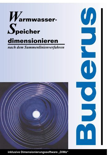 Dimensionierungshilfe DiWa - Buderus