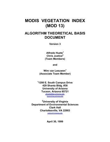 MODIS VI ATBD - modis - NASA