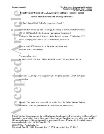 download (pdf, 3544 kb) - Institute of Pharmacology and Toxicology