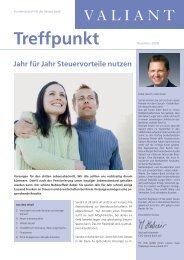 Treffpunkt November 2008 (PDF, 773.1 KB) - Valiant Bank