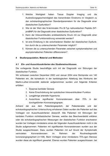 Dissertation zur Erlangung des akademischen Titels: Dr. med.