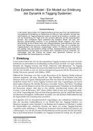 Das Epistemic Model - Ein Modell zur Erklärung der Dynamik in ...