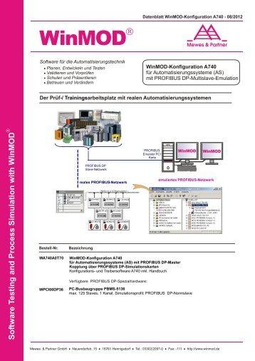 A740 für Automatisierungssysteme mit PROFIBUS DP ... - WinMOD