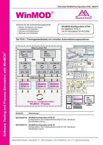 A750 (ST und XT) für SIMATIC PCS7 mit - WinMOD