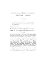On three-dimensional Galois representations - Universität Bayreuth
