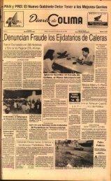 Denuncian Fraude los Ejidatarios de Caleras - Universidad de Colima
