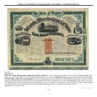 Auktion 61 Amerikanische Autographenaktien- und Anleihen - US ...