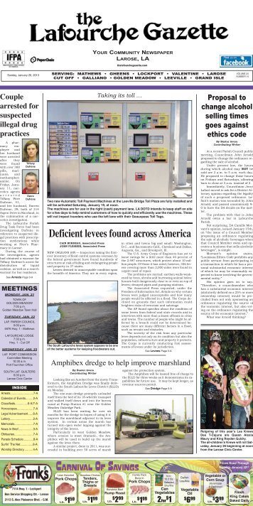 Sunday, January 20,2013 - The Lafourche Gazette
