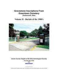 Gravestone Inscriptions From Greenlawn Cemetery ... - RootsWeb