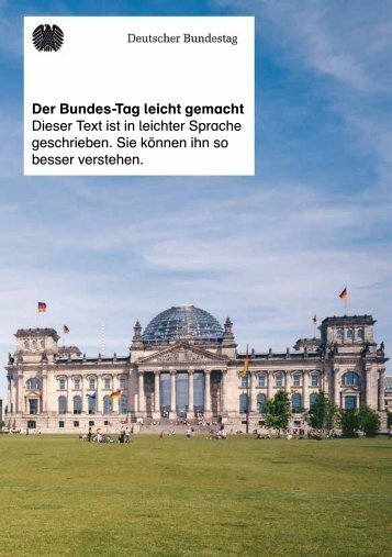 Der Bundes-Tag leicht gemacht - Deutscher Bundestag
