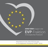 Arbeitsbericht der CDU/CSU-Gruppe im Europäischen Parlament